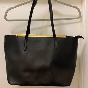 ALDO Black & Gold Tote Shoulder Bag Purse